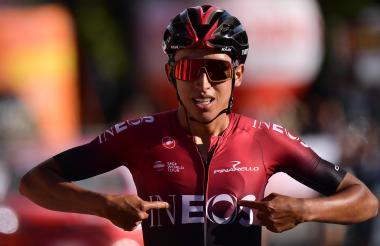 El ciclista colombiano Egan Bernal, del Team Ineos.