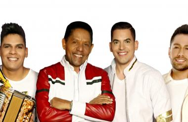 Samir Vence Romero, El 'pollo' Isra Romero e Israel David Romero hijo, integrantes actuales del Binomio de Oro.
