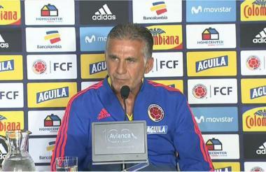 El técnico Carlos Queiroz ayer en rueda de prensa.