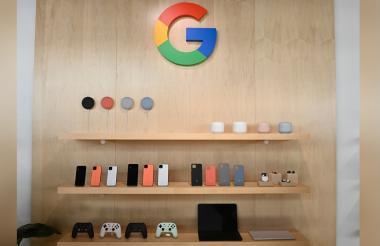 El nuevo teléfono Google Pixel 4 está en exhibición durante un evento de lanzamiento de un producto de Google,