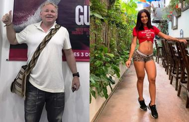 Brian Harrington y la ex miss tanga Paola Ariza.