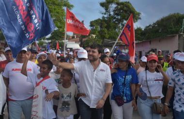 Jaime Pumarejo en su cierre de campaña.
