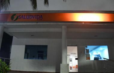 Fachada de una de las sedes de EPS Saludvida en Barranquilla.