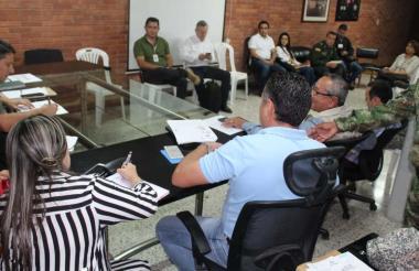 Imágenes de la reunión del comité de seguimiento electoral en la Gobernación de Sucre.