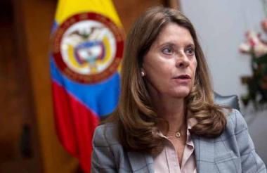 La vicepresidente Martha Lucía Ramírez