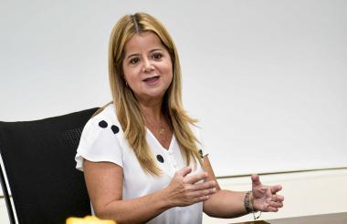 Elsa Noguera, candidata a la Gobernación.