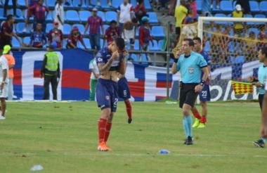 Ricardo Márquez lamenta  la derrota del Unión.