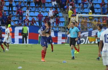 Ricardo 'Caballo' Márquez fue uno de los jugadores que está en llanto una vez terminado el compromiso.