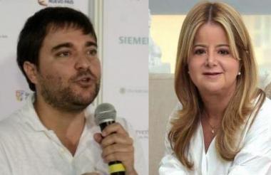 Jaime Pumarejo,candidato a la Alcaldía de Barranquilla, y Elsa Noguera, candidata a la Gobernación del Atlántico.