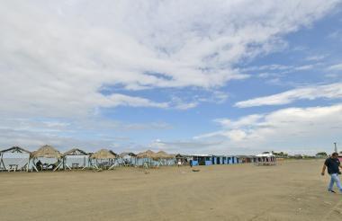 Aspecto de las playas de Puerto Mocho en la zona de Las Flores de Barranquilla.