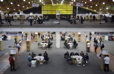 En las elecciones realizadas el pasado domingo funcionó un puesto de votación en el recinto de Corferias en Bogotá.