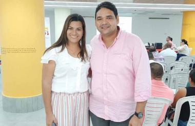 Marisabella Romero y Evaristo Olivero.