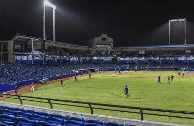 Vista panorámica del estadio Édgar Rentería, que en este año será la casa de los Caimanes y los Gigantes, siendo este último un equipo debutante en la Liga.