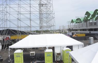 Vista de las inmediaciones donde se realizó el evento.