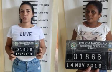 Diana Milena Valencia Ochoa y María del Carmen Barrios Guerrero, capturadas en flagrancia.