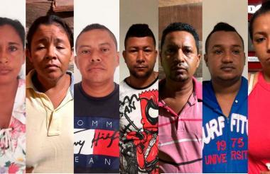 Los capturados por venta de drogas en Ponedera.