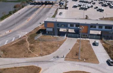 Foto aérea del Portal Barranquillita, en donde están las oficinas de Metrocaribe.