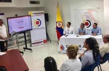 Aspecto de la rendición de cuentas de la Contraloría General de la República en Barranquilla.