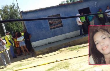 En esta casa encontraron el cuerpo de Milena Aroca Cabarcas, de 23 años (recuadro).