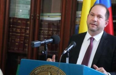 Lidio García Turbay, presidente del Congreso de la República, quien es militante del Partido Liberal.