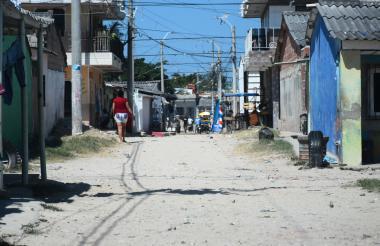 Calle de La Chinita donde encontraron el cadáver.