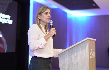 La presidente de la CCB, María José Vengoechea, en el lanzamiento de la red.