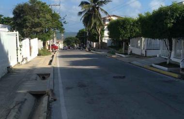 Calle 10 carrera 9 barrio Centro, en Salgar.