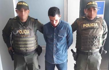 Johnny de Jesús Moreno, capturado.