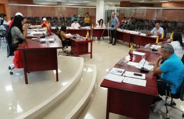 La Asamblea de Sucre en una sesión.
