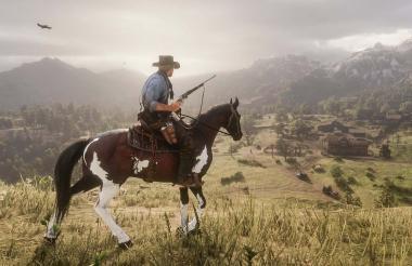 Arthur Morgan, protagonista del juego, cabalgando en uno de los paisajes.