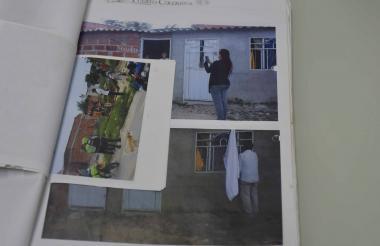 Fotografías adjuntas en el archivo de la denunciante que muestran el estado del predio ubicado en el sector de San Carlos en el municipio de Puerto Colombia.