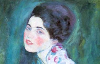 Obra titulada 'Retrato de una dama', del pintor austriaco Gustav Klimt.