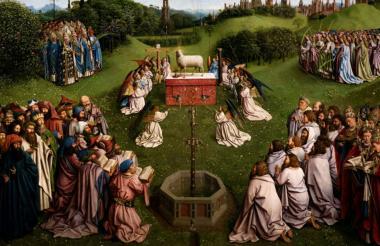 'El Cordero Místico', de Hubert y Jan van Eyck.