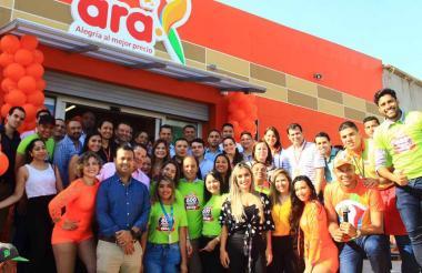 Apertura de la tienda número 600 de Ara en Colombia, la cual se encuentra en Malambo, Atlántico.