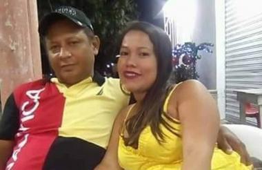 Los esposos Edwin Bustamante y Yésica Vargas.