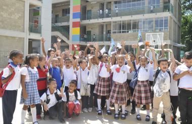 Estudiantes de la Institución Educativa Hilda Aguilar de La Jagua.