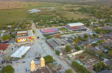Vista aérea del municipio de Candelaria, en el departamento del Atlántico.