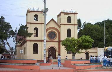 Vista de la plaza de Palmar de Varela