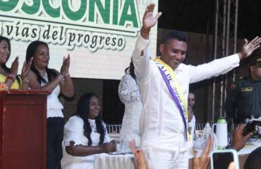 Edulfo Villar, alcalde de Boconia 2020 - 2024, en su acto de posesión en el municipio.