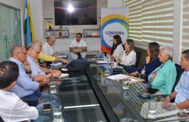 Aspecto de la reunión en la Universidad de Córdoba.