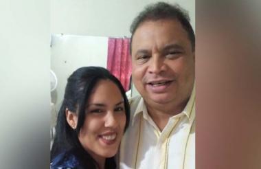 Eduard Moreno y su esposa Thaís Domínguez.