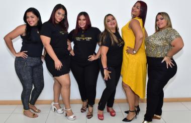 Las participantes del certamen en una visita a EL HERALDO.