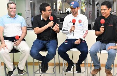 Javier Castell, Rafael Castillo, Arturo Reyes y Nilson Romo durante la charla.