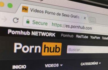 Página web pornográfica.