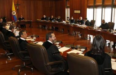 Los magistrados en la Corte Suprema de Justicia.