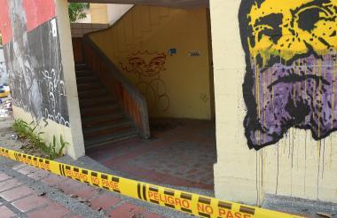 Vista del sitio donde fue hallado el cuerpo de Madelayne Ortega, el pasado 18 de diciembre en la UA.