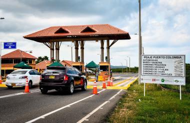 El peaje Papiros, ubicado entre B/quilla  y Puerto, tuvo un incremento de $1.400 para carros particulares.