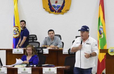 Alberto Salah durante su intervención en la sesión del Concejo Distrital.