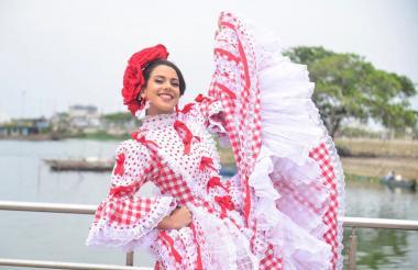 La reina del Carnaval de Soledad, Milena Vidal.