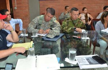 El primer consejo de seguridad de Sucre se efectuó en la sala de juntas de la Gobernación.
